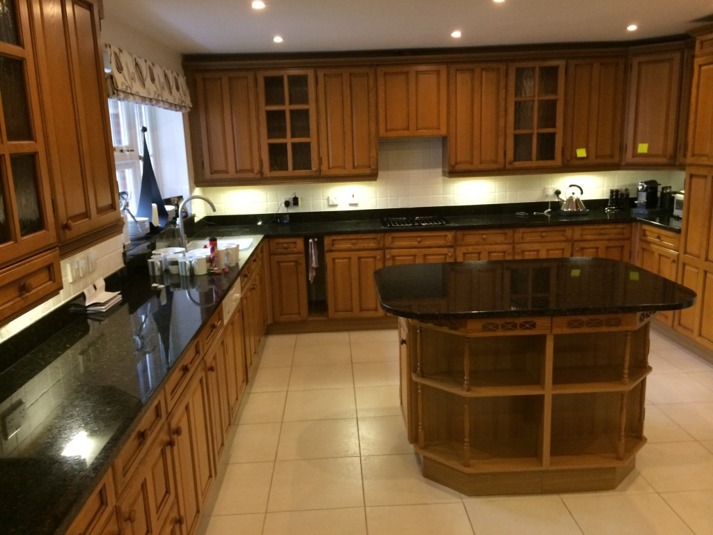 Oak kitchen before | hand painted kitchens uk