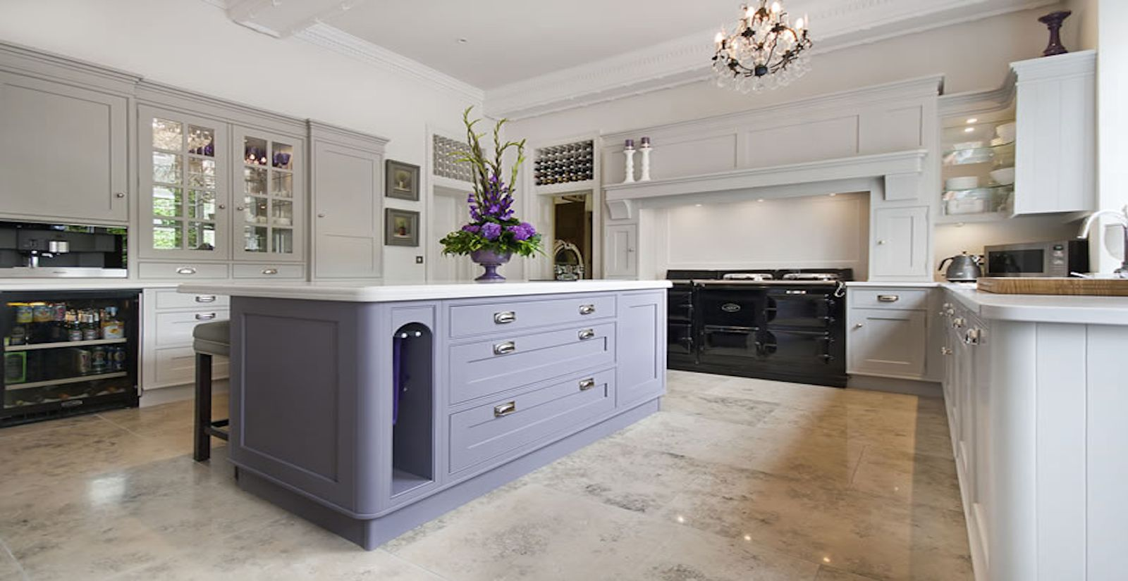 Elegant A Beautiful Osbornes Of Ilkeston Hand Painted Kitchen. Idea